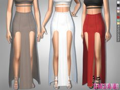 The Sims Resource: 303 - Open Skirt Waterfall by sims2fanbg • Sims 4 Downloads