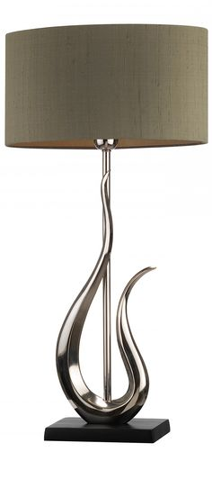 """silver"" silver table lamp, table lamps, modern table lamps, contemporary table…"