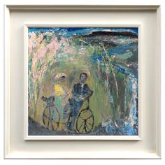 """""""Yeats and Maude Gonne at Glencar waterfall"""" oil on board 41 a painting from a few years ago. Waterfall, Paintings, Oil, Night, Board, Artwork, Work Of Art, Paint, Auguste Rodin Artwork"""
