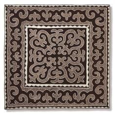 Kirghiz Felt Carpet Shyrdak Dark brown | Miscellaneous