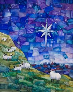 Pastor Adam likes - Giclee reproduction of original watercolor by BlueSkyWatercolors. I bought one for church. Beautiful and serene.