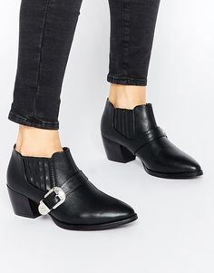 5dd9b7f3a1fe Image 1 of Truffle Collection Margie Western Ankle Boots Bootie Boots