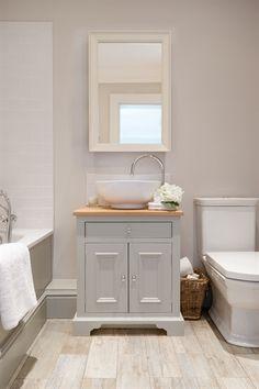 Neptune Chichester Oak Countertop Washstand, 640mm
