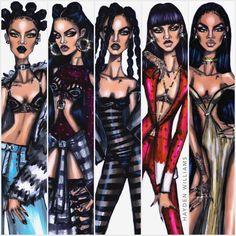 Hayden Williams Fashion Illustrations | Rihanna ANTI collection by Hayden Williams