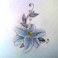Image detail for -Stargazer Lily Tattoo Image - Stargazer Lily Tattoo Graphic Code                   Have two leaves and put my parents names on them. ~Stargazer was their wedding flower.