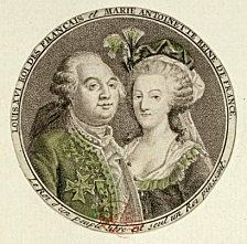 Engraving of Marie Antoinette and Louis XVI