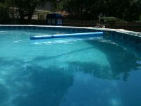 I have an above ground pool and keeping it clean is often difficult because there are trees hanging over it as you can see by the shade in the picture. I have the pump nozzle set to make the water…