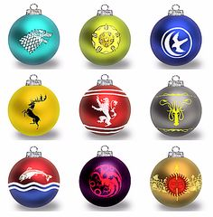 Game Of Thrones balls for the Christmas tree!