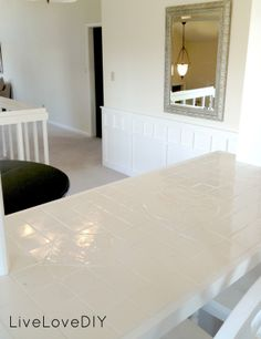 LiveLoveDIY: How To Paint Tile Countertops