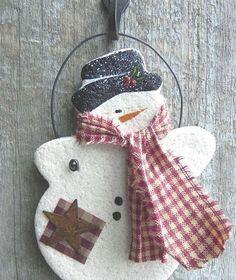Снеговики из соленого теста, шаблоны к ним