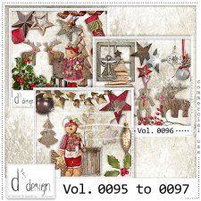 Vol. 0095 to 0097 - Christmas Mix  by Doudou's Design  cudigitals.com cu commercial scrap scrapbook digital graphics#digitalscrapbooking #photoshop #digiscrap