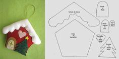 más y más manualidades: Bellos colgantes de fieltro con forma de casita