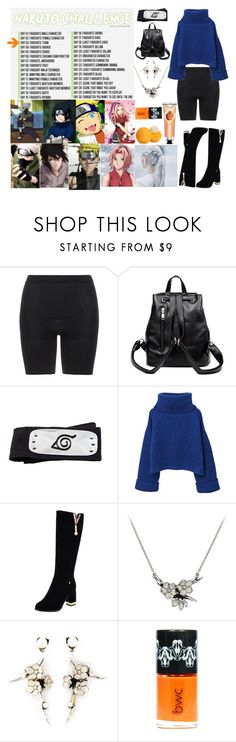 """30 Day Naruto Challenge: Day 3: Team 7"" by feykaze ❤ liked on Polyvore featuring Forum, SPANX, MANGO, Shaun Leane, Eos and The Body Shop"