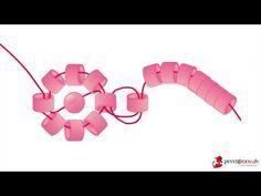 Miyuki Bileklik Yapımı - Kare Örme Tekniği - YouTube