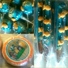 Bubble Guppy Cookies, Chocolate Covered Pretzels, Marshmallow Pops @DDBird's Treats