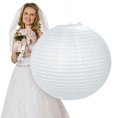 Jumbo White Hanging Party Lantern