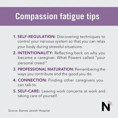 """Recovering from compassion fatigue doesn't happen overnight. I had to learn how to set boundaries, change my eating habits and learn how to relax."" ~ Yolanda Smith, MSN, RN, CCRN, who operates Self Care Just For Me to help nurses with compassion fatigue"