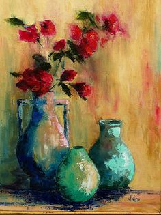 Roses in my Favorite Pot by Mary Wier