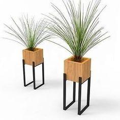 Concepts - Home Dekoration Ideen Iron Furniture, Steel Furniture, Garden Furniture, Furniture Design, Modern Plant Stand, Diy Plant Stand, House Plants Decor, Plant Decor, Diy Home Decor
