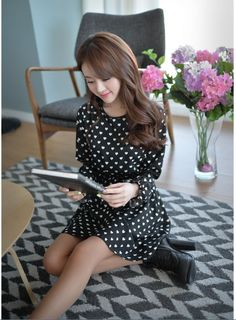 Dress DS3528 Black