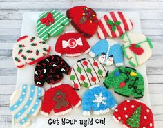 The Partiologist: Ugly Christmas Sweater Cookies!