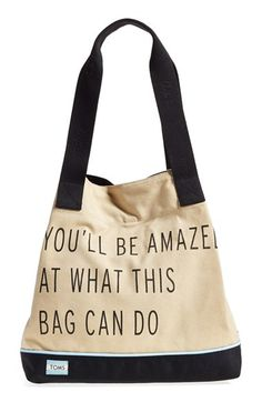 TOMS 'One for One' Cotton Blend Tote available at #Nordstrom