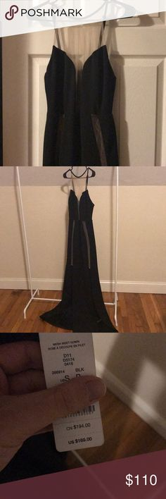 NWT Bebe Mesh Inset Gown Brand NWT mesh inset gown by Bebe. I bought this to wear to a company function, but ended up wearing something else. No tears/rips in the mesh and it's in pristine shape! bebe Dresses Asymmetrical