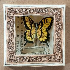 Cabinet of Curiosity  butterfly by LoucheLab on Etsy, $25.00