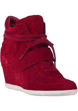 Ash Bowie Wedge Sneaker Rubis Suede - Jildor Shoes