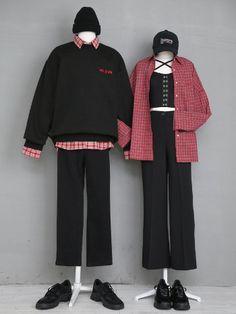 마리쉬♥패션 트렌드북! Korean Fashion Trends, Korea Fashion, Asian Fashion, Kpop Outfits, Korean Outfits, Fashion Outfits, Korean Fashionista, Mode Ulzzang, Matching Couple Outfits