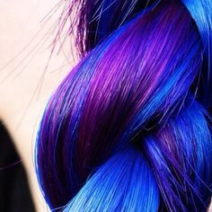 Three Color pink, purple, blue Hair Highlights | my future hair color. dark blue with purple highlights | My Style