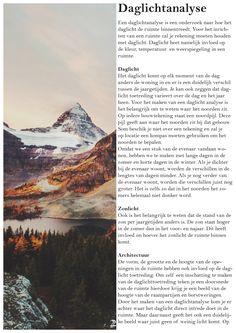 Tweede jaar, Derde periode, Tijdschrift, Daglichtanalyse
