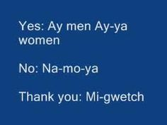 Words in Cree