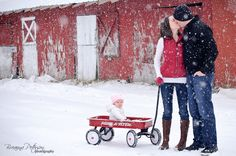 Family photo...love the red wagon!