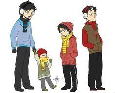 Dick,Damian,Tim, and Jason