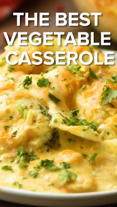 This easy cheesy vegetable casserole recipe is the perfect side dish for when you are hosting company or a holiday It s made with cauliflower broccoli brussel sprouts water chestnuts and cheese recipe vegetable Diet Recipes, Vegetarian Recipes, Healthy Recipes, Chili Recipes, Smoothie Recipes, Veggie Dishes, Food Dishes, Easy Vegetable Side Dishes, Healthy Cooking Recipes