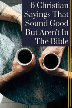 You've heard them, maybe even said them. But these common Christians sayings just aren't true. Christian Living, Christian Faith, Christian Quotes, Spiritual Encouragement, Christian Encouragement, Bible Verses, Scriptures, Follow Jesus, Bible Lessons