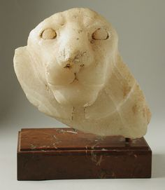 Head of a Lion, Egypt, Old Kingdom, 4th Dynasty, (2575 - 2465 BCE) Calcite