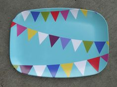 Melamine Party Flags Platter by shopampersand on Etsy. 22.00, via Etsy.