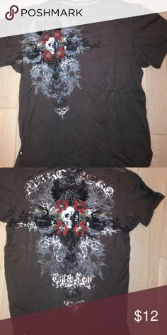 Super colorful and creative Ecko shirt. So much detail and really cool. The studs are super cool and go great with the shirt. Someone once asked me if they could have it when I was done! Ecko Unlimited Shirts Tees - Short Sleeve