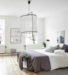 schlafzimmer skandinavischer teppich grau