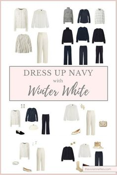 Will Winter White Dress Up Navy? Let's See...