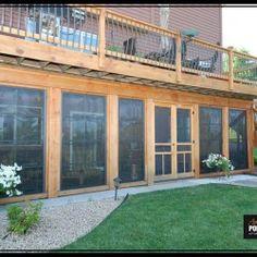 Photo Gallery   Amazing EZ Screen Porch Windows. Patio Under DecksDecks ...