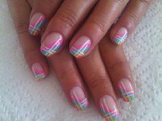 colorful gel nail art designs with nail polish
