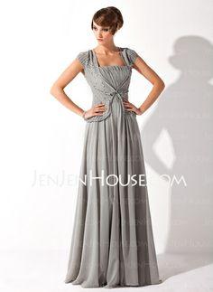 This one is also a first choice....  Mother of the Bride Dresses - $126.99 - A-Line/Princess V-neck Floor-Length Chiffon Mother of the Bride Dress With Ruffle Beading (008005692) http://jenjenhouse.com/A-Line-Princess-V-Neck-Floor-Length-Chiffon-Mother-Of-The-Bride-Dress-With-Ruffle-Beading-008005692-g5692