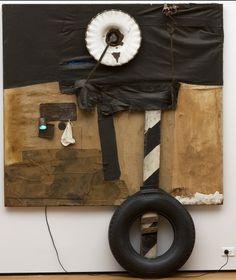 Found Object Art and Assemblage Robert Rauschenberg. First Landing Jump. Robert Rauschenberg, Neo Dada, Action Painting, Mark Rothko, Edward Hopper, David Hockney, Collage Kunst, James Rosenquist, Pop Art Movement