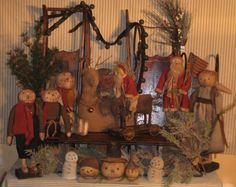 Christmas Open House in Pultneyville Old Time Christmas, Christmas Open House, Christmas Past, Christmas Snowman, Winter Christmas, Christmas Crafts, Christmas Decorations, Primitive Christmas Decorating, Primitive Country Christmas