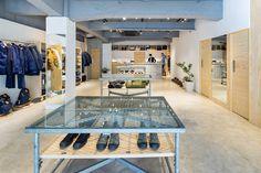 Those tables | A First Look at the nanamica MOUNTAIN Daikanyama Store
