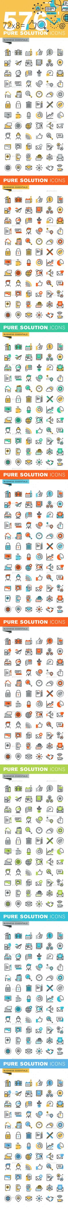 Set of Thin Line Flat Design Icons of Business Essentials. Download here: http://graphicriver.net/item/set-of-thin-line-flat-design-icons-of-business-essentials/14786697?ref=ksioks