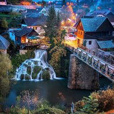 Natural phenomenon, a small watermill village, Rastoke, Croatia